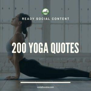 Social Content: Yoga Quotes 200+