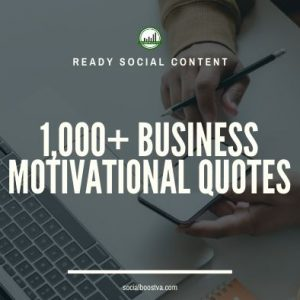 Social Content: Business Quotes 1,000