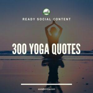 Social Content: Yoga Quotes 300+