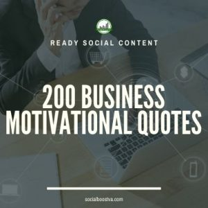 Social Content: Business Quotes 200