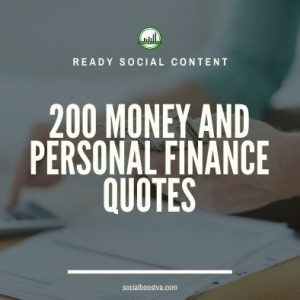 Social Content: Money Quotes 200