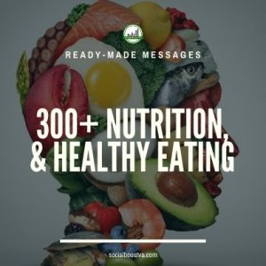 Health Ready-Made Messages: 300+ Nutrition, Organic Food Eating, Vegetarian Healthy Eating