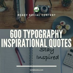 Social Content: Typography Quotes 600