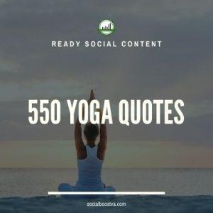 Social Content: Yoga Quotes 550+